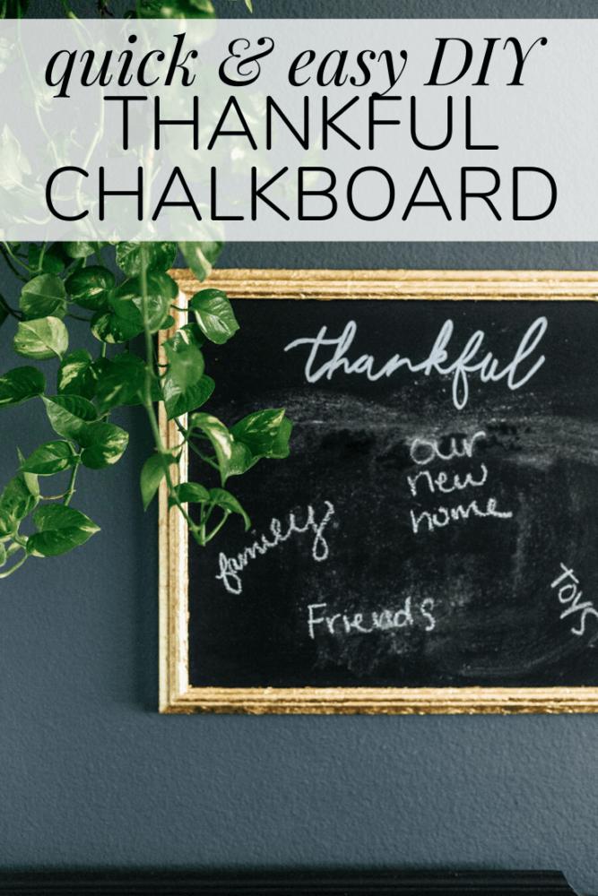 diy thankful chalkboard sign