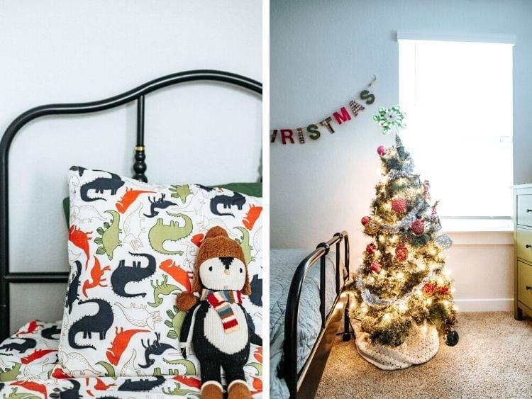 collage of kid Christmas decor