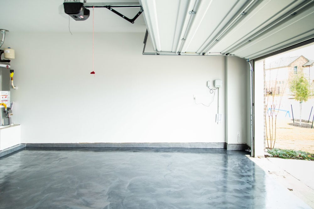 epoxy coated garage floor