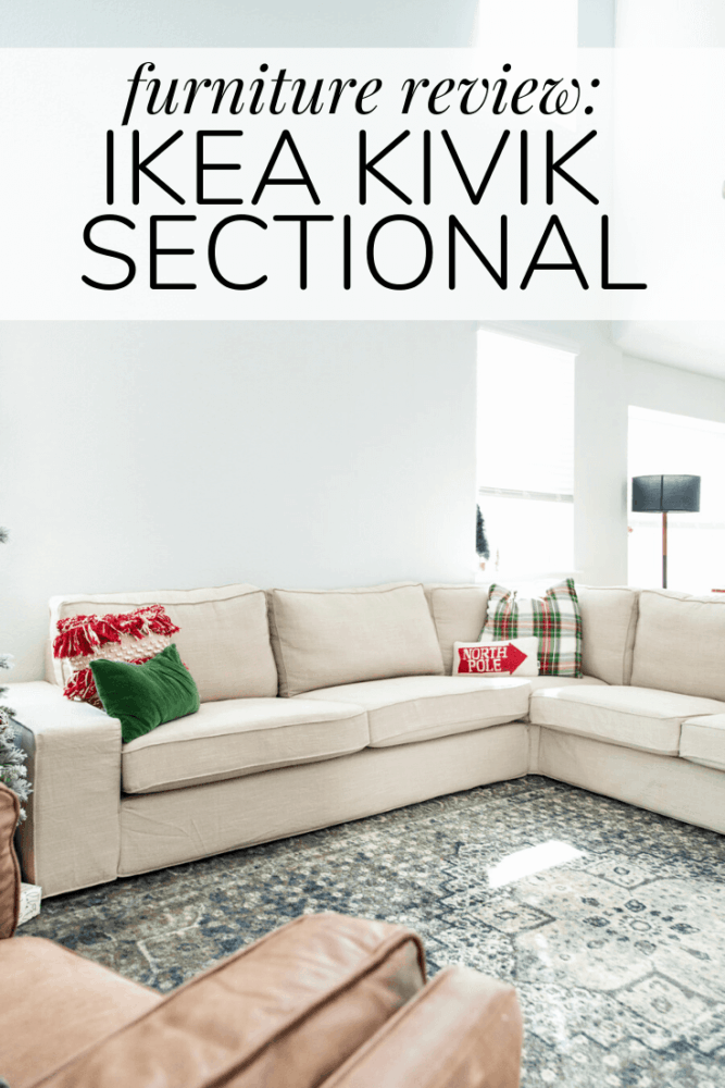 IKEA KIVIK sectional with text overlay - furniture review