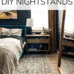 completed nightstand in master bedroom