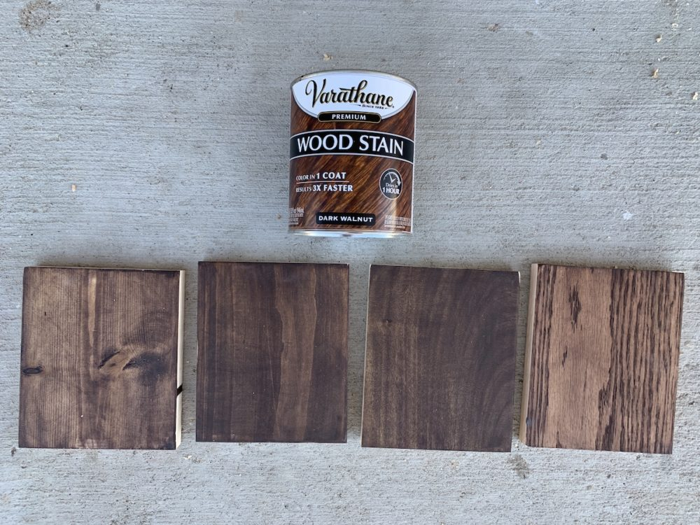 dark walnut stain samples