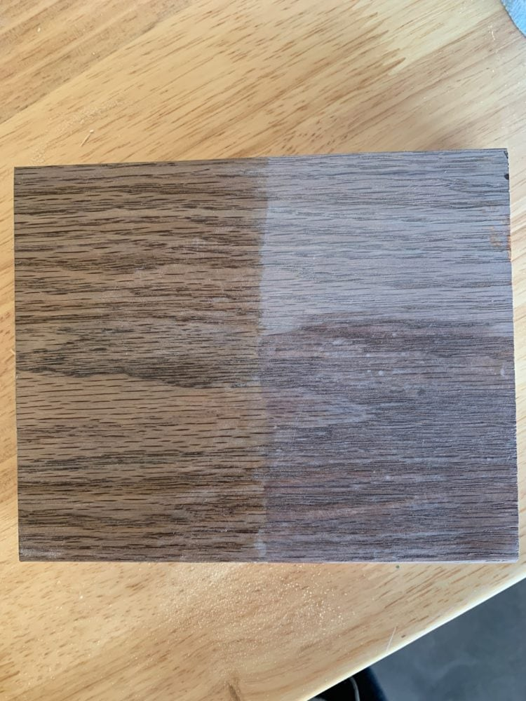 wood accelerator finishes example