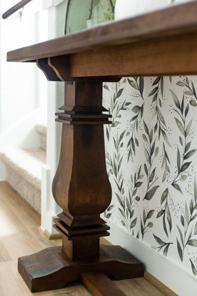 details of entryway table