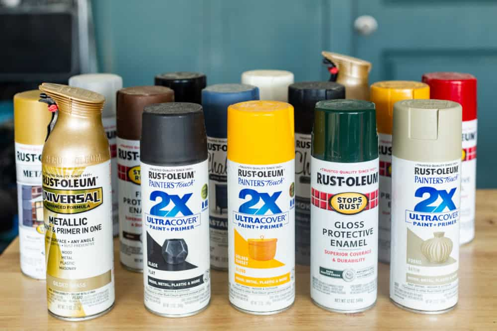 Collection of Rust-Oleum spray paint