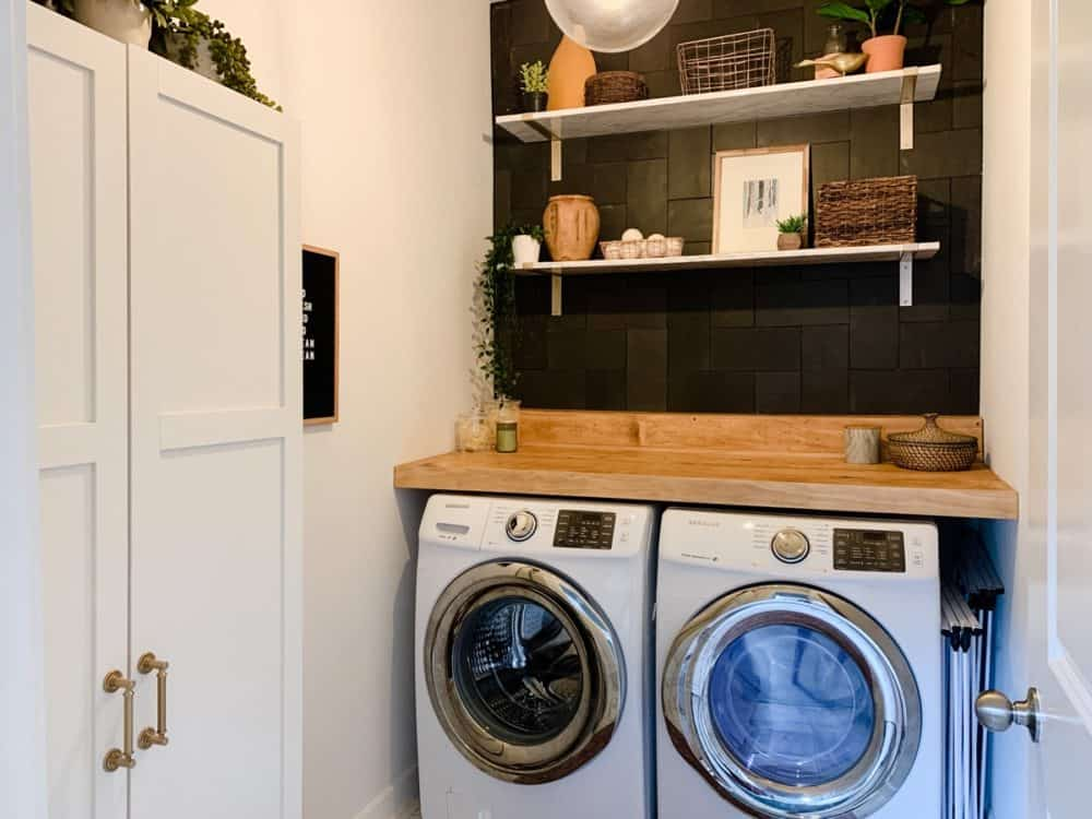 Laundry room after renovations