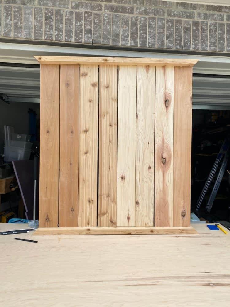 assembly of DIY vertical herb garden