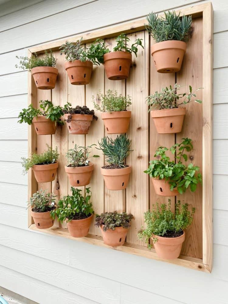 large vertical wall display
