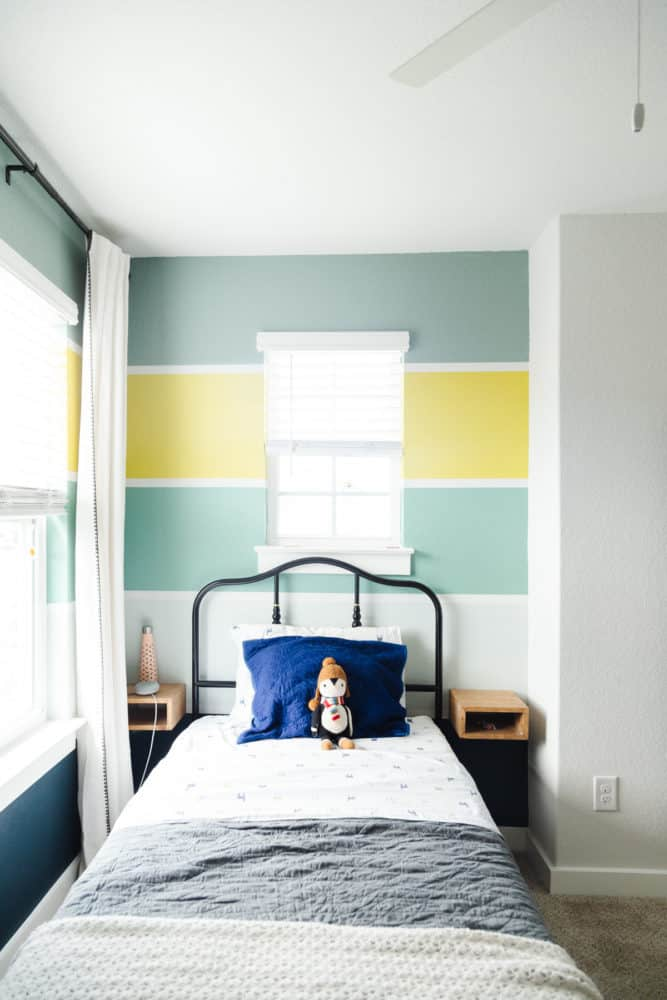 bright and colorful child's bedroom