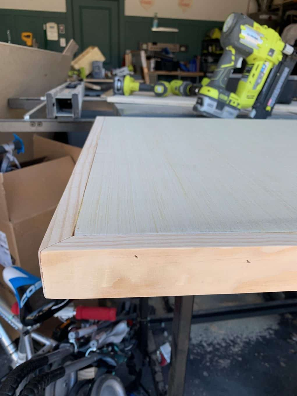 top for DIY floating desk
