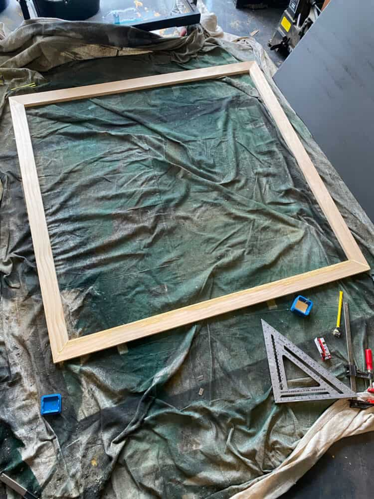 wood frame for DIY photo display