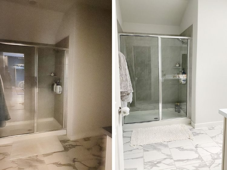 before and after image of having skylight installed