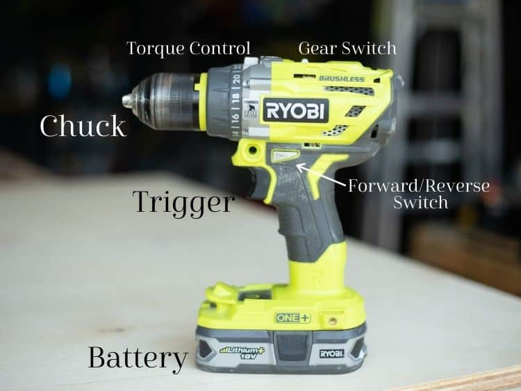 A detailed look at the parts of a drill